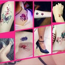 30 unids/set Temporal Tatuaje Flor Femenina de La Mariposa 3d Pegatina Tatuaje Del Brazo de Larga Duración Impermeable Cubierta de Cicatrices En El Pecho Patrón