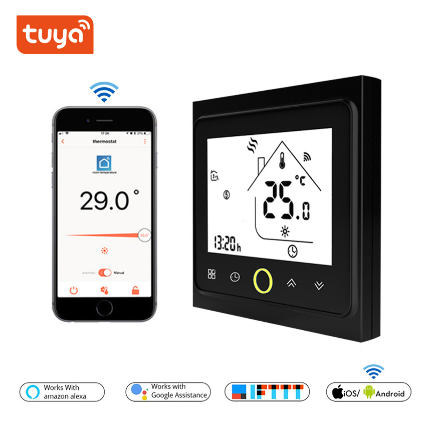 Wifi-Controlled Heating Smart Water/electric-Underfloor And Black-Color White