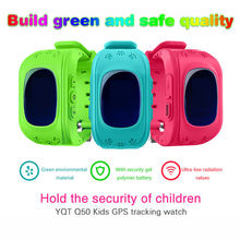 Free Shipping SIM Card Q50 Children Kid Wristwatch GSM GPRS Locator Tracker Anti-Lost Smartwatch Child Guard for iOS Android