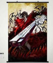 Home Decor Japanese Anime Wall poster Scroll Hellsing Alucard Cosplay Art 003