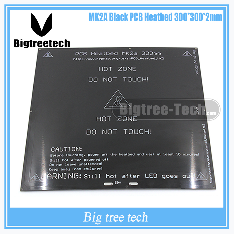 3D printer heat bed MK2A 300*300*2.0mm 12v RepRap RAMPS 1.4 PCB Heat bed Hot Plate For Mendel For 3D Printer MK2B 3d printer pcb heatbed mk2b bed hot plate for