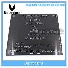 3D принтера тепла кровать MK2A 300*300*2.0 мм 12 В RepRap РАМПЫ 1.4 ПЕЧАТНОЙ ПЛАТЫ тепло кровать Hot Plate Для Пруса и Менделя Для 3d-принтер MK2B