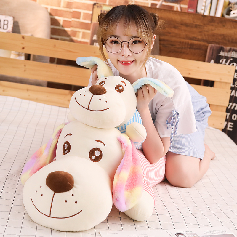 New 1pc 50cm/70/90cm/110 Cm Colorful Long Ears Plush Toys Soft Kawaii Dog For Kids Baby Lovely Doll Stuffed Pillow Birthday Gift