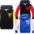 2017 new Baby boys POKEMON GO coat zipper Hooded Sweater Winter Warm Cardigan coat Jacket Children outerwear kids clothes retail