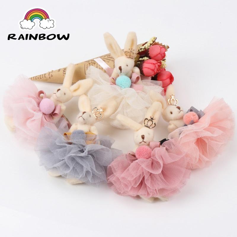 1pcs/set Fashion Cartoon Rabbit Sand Flower Bowknot Hairpin Young Children Girls Children Hair Clips Handmade Barrettes   Headwear