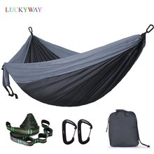 Hamaca de paracaídas Ultra grande 210T Nylon Durable portable exterior colgante Hamac para patio trasero persona doble Hamak con correa de árbol