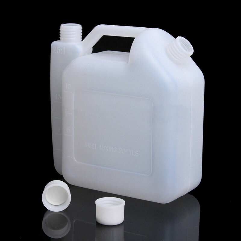 1L Oil Petrol Fuel Mixing Bottle Tank 2 Stroke For Chainsaw Trimmers 1:25 50:1 For Using With Tools With 2-stroke Petrol Engines