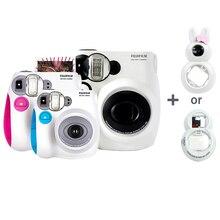 Oryginalna kamera fotograficzna Fujifilm Instax Mini 7s, akceptuje Mini Film Fuji Instax, obiektyw Selfie jako darmowy prezent