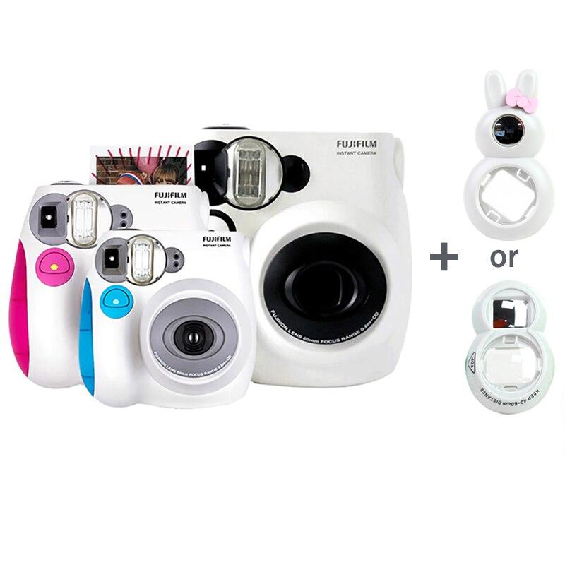 Véritable appareil Photo instantané Fujifilm Instax Mini 7 s, accepter le Mini Film Fuji Instax, objectif Selfie comme cadeau gratuit