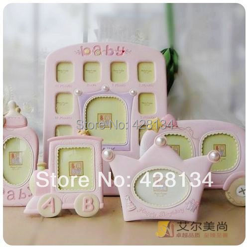 5 piece set child frames boys girls cute baby frames resin frame