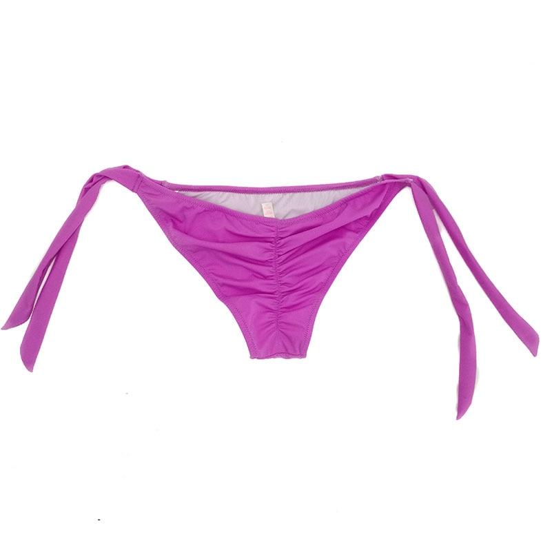 Women Bikini G-string Cheeky Bikinis Bottoms Purple Swimsuit Sexy Secret Thong Brazilian bikini bottoms 1