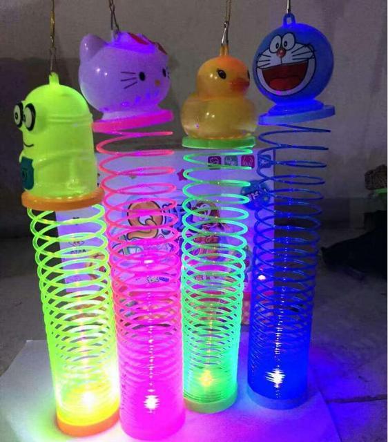 Новый стиль детские светящиеся игрушки радуга фонари портативные мультфильм проекция фонарь игрушки 10 шт./компл.