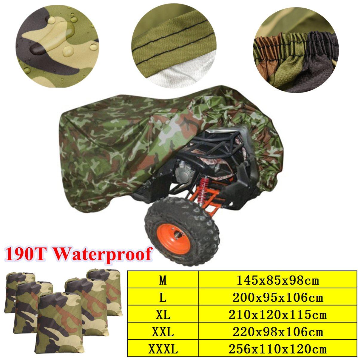 Universal 190 T Camouflage Moto ATV Couverture Étanche Quad Vélo Véhicule Scooter Moto Couverture M L XL XXL XXXL