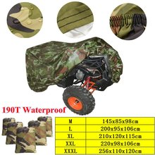 Universal 190T Camouflage Motorbike ATV Cover Waterproof Quad Bike Vehicle Scooter Motorcycle Cover M L XL XXL XXXL