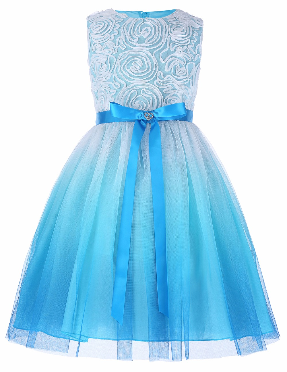 Grace Karin 2017 Flower Girl Dresses Luxury Tulle Flower Party Dresses For Wedding Party First Communion Dresses With Bow Ribbon 11