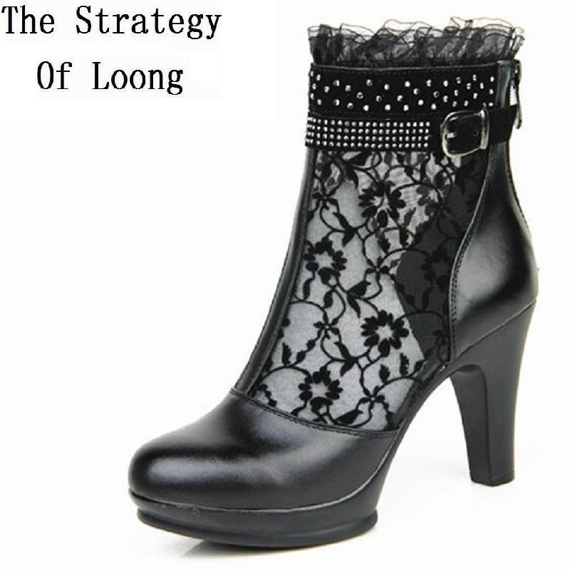 women summer 2017 ankle boots for women black ankle women ...