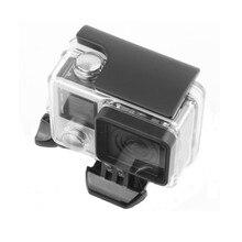 البلاستيك قفل مشبك كليب ل GoPro بطل 4/3 + الأسود الشظية طبعة واقية حالة