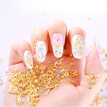 1Box DIY  Nail Art Decoration Glitter art Adhesive 3d Charms Jewelry Alloy