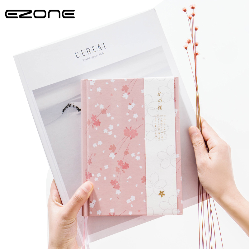 EZONE 1PC A5 Cherry Blossoms Handbook Cute Illustration Page Notepad Schedule Planner Journal Diary Stationery School Supplies цепочка page 5