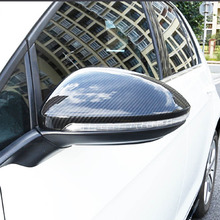 цена на Free Shipping High quality Motor Car Automobile Carbon Fiber Rearview Mirror Cover For Volkswagen VW Golf 7 MK7