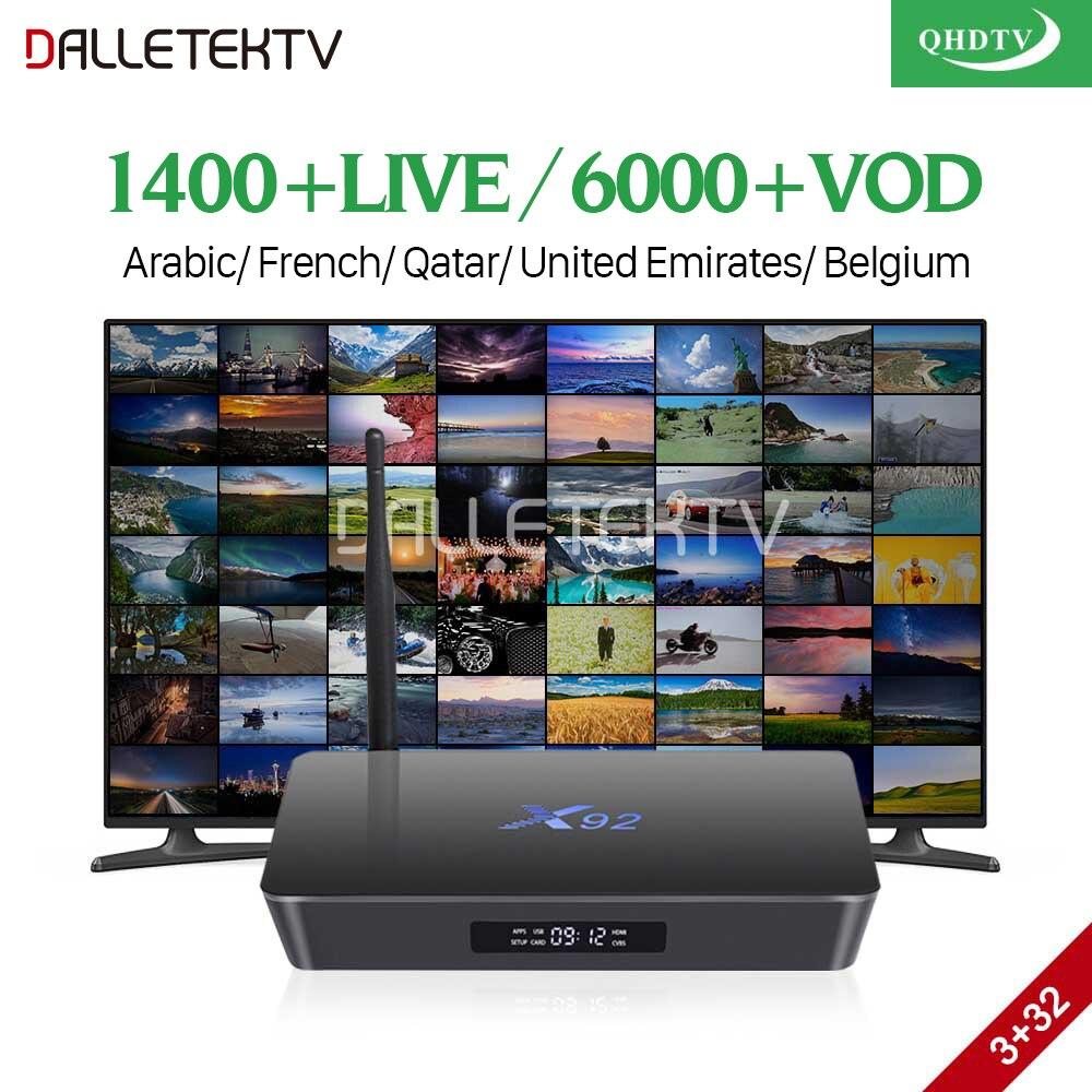 Arabic IPTV Box X92 Android 7.1 TV Receivers 3G 32G with QHDTV IPTV Subscription 1 year IPTV France Arabic Belgium Netherlands r1 arabic french iptv box android 6 0 with qhdtv iptv subscription 1 year iptv belgium netherlands arab france vip sports