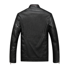 Men Faux Leather Bomber Jackets