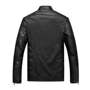 Image 2 - Bolubao גברים עור זמש מעיל אופנה סתיו אופנוע עור מפוצל זכר חורף מפציץ מעילי הלבשה עליונה דמוי עור מעיל