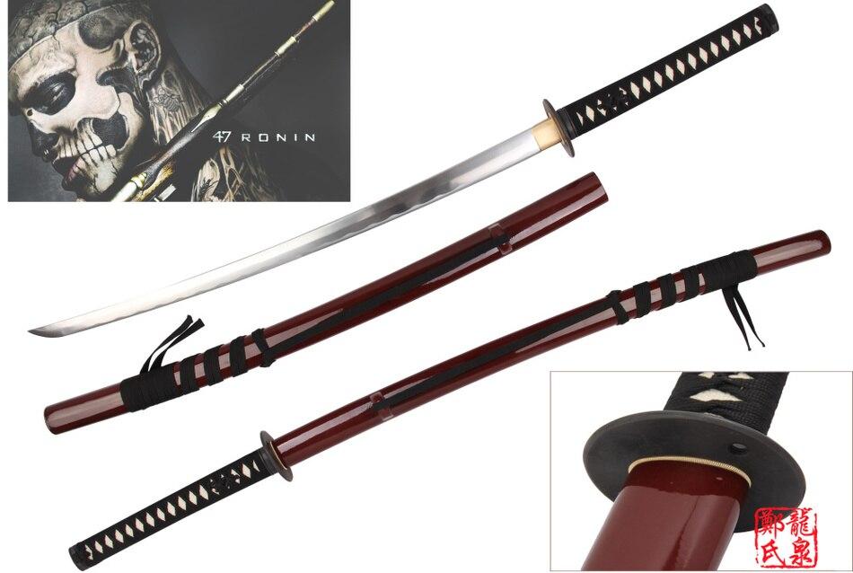 Pour 47 Ronin Asano Clan forgé à la main épée de samouraï véritable Katana film Prop réplique pleine netteté approvisionnement prêt