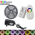 flexible stirp led  5M RGBW RGBWW 300Leds 5050 SMD LED Strip Light +RGBW 2.4G Touch Screen RF Remote Controller+4A Power adapter