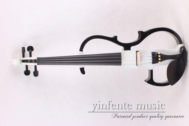 New  4  string 16'' Electric Viola Silent   Powerful Sound   Case Bow   white  color solid wood make  the  body new 4 string 4 4 electric acoustic violin patent silent fine sound 1