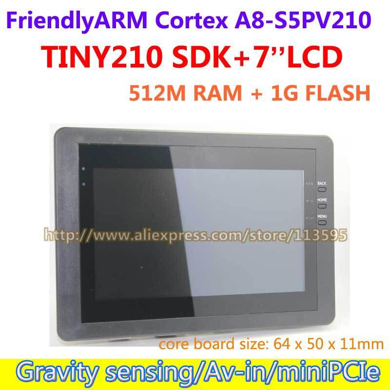 все цены на FriendlyARM S5PV210 A8 ,TINY210 SDK+7inch Capacitive Touch Screen,512M RAM+1G Flash,Development Board Android онлайн