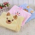 Bebê recém-nascido cobertor de recepção 0-3months 2017new estilo unisex do bebê do algodão recebendo cobertores dos desenhos animados sólida para a primavera