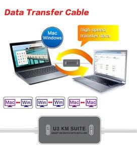Image 5 - Cable de enlace de datos USB 3,0 de alta velocidad para PC, interruptor KM inteligente para compartir archivos de datos directos, Cable de transferencia para MAC y Windows