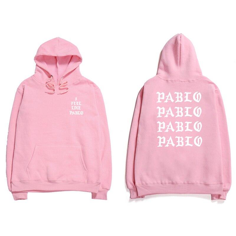 Assc Hip Hop Hoodies Men I Feel Like Pablo Kanye West Streetwear Hoodie Sweatshirts Anti Social Letter Print Hooded Hoodie Club