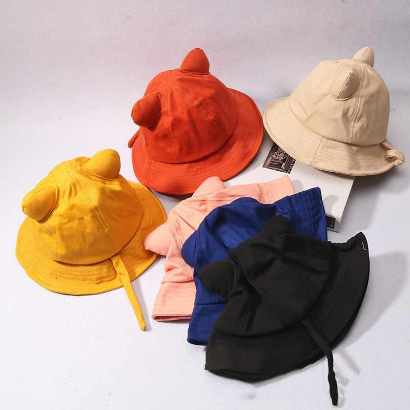 Baby Caps Kids Sun Protection Hat Cute Animals Ear Designed Toddler Boys Girls Bucket Hat For Boys Girls