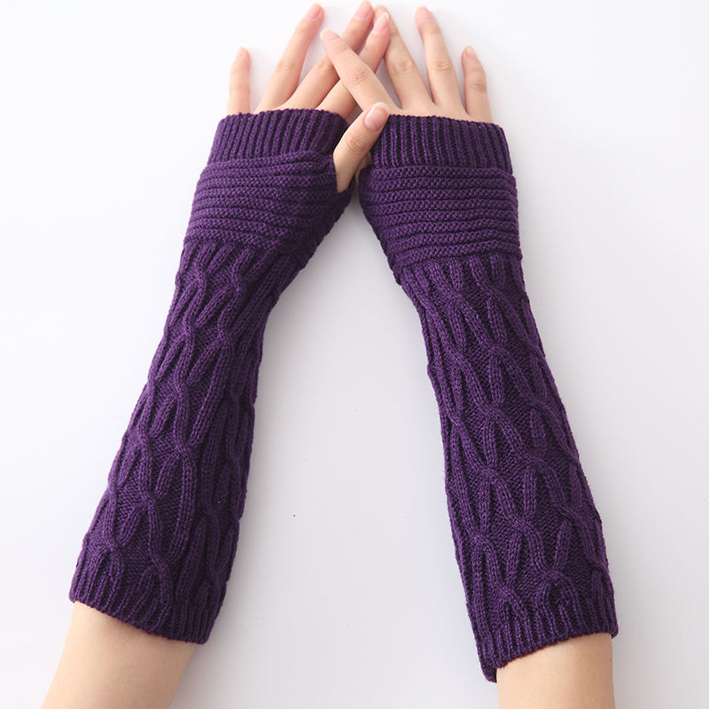 New Women Spring Autumn Winter Arm Warmers Sleeves Girls Womens Fingerless Gloves