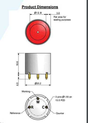 CO GAS SENSORS 4CFC Part Number 2112B2006