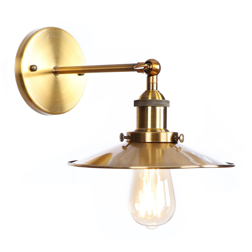 Adjustable Vintage Wall Lamps Living Room Golden Iron Retro Industrial Wall Light LED Home Lighting Applique Murale Edison