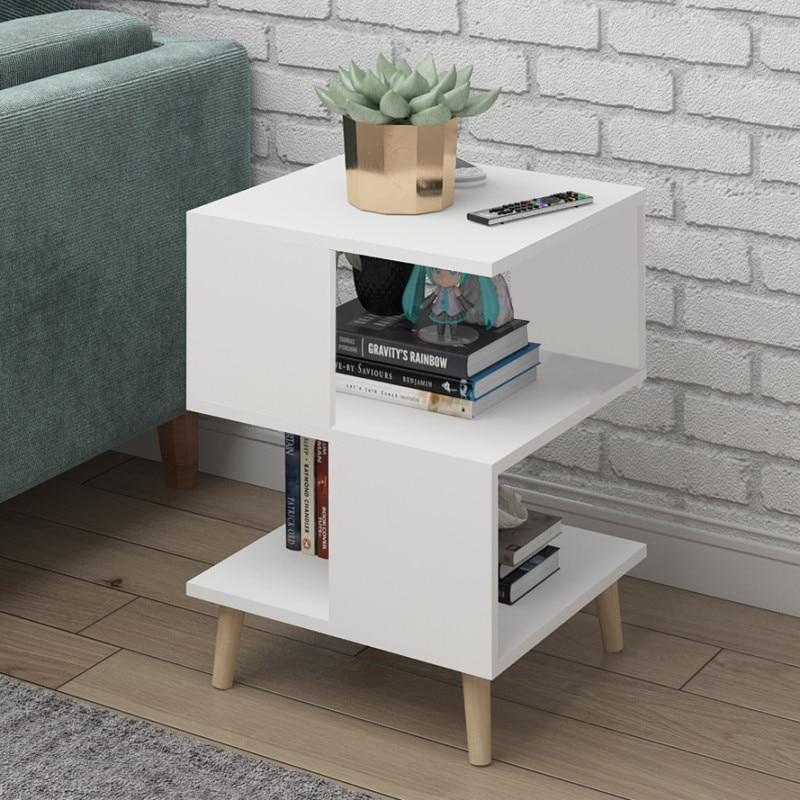 H Living Room Modern Coffee Table Solid Wood Leg Storage Table Floating Window Mini Talk Tea Table Bedroom Bedside Table