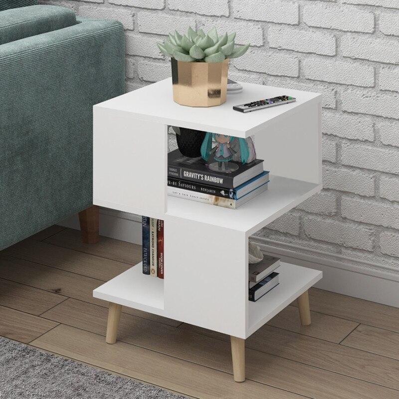 H sala de estar moderna mesa de centro de madeira maciça perna mesa armazenamento flutuante janela mini conversa mesa chá quarto cabeceira