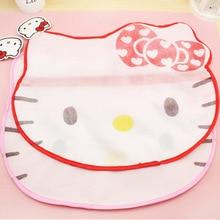 Kawaii Kitty Cat Hosiery Shirt Sock Underwear Washing Lingerie Wash Protecting Mesh Bag Laundry Basket  B43