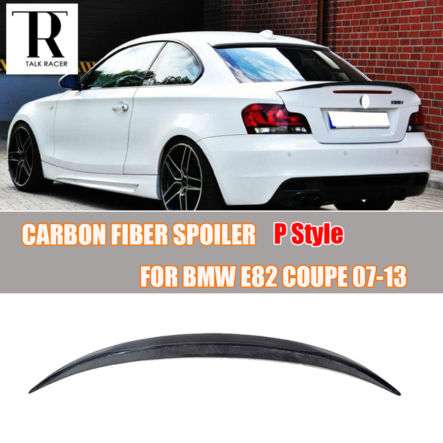 209ad7b43a37 E82 M Performance Style Carbon Fiber Rear Trunk Spoiler Wing for BMW E82  118i 120i 128i