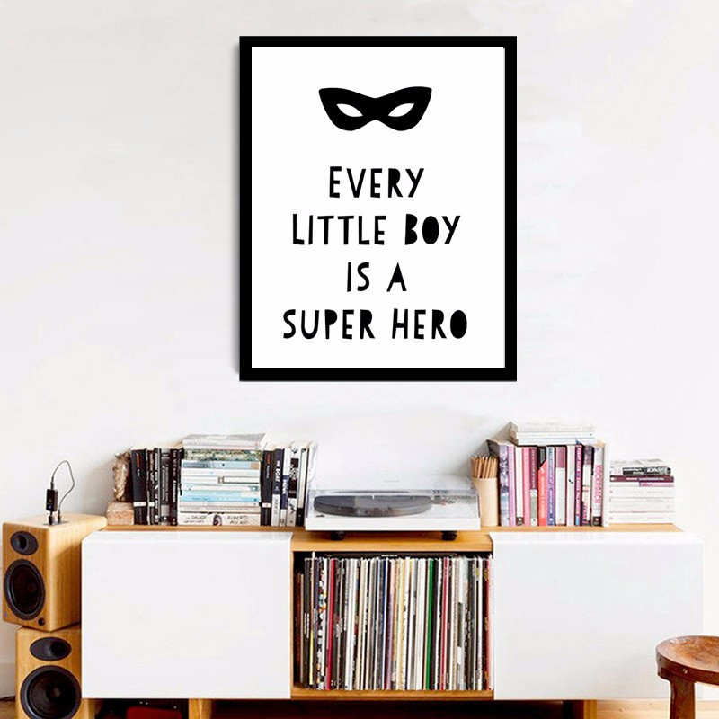 Every Little Boy is a Super Hero Print Poster  Canvas Art Kids Room Funny  Quote. Online Get Cheap Funny Mirror Quotes  Aliexpress com   Alibaba Group