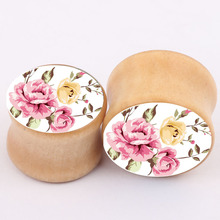 11 11 New Fashion Ear Stretchers Plugs and Tunnels Wood Flesh Ear Saddles Gauges Expanders font