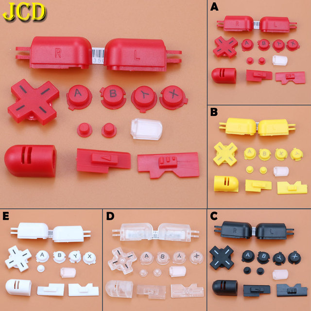 JCD 1Set  Replacement A B X Y abxy L R D Pad Cross Button Full Buttons Set For Nintend DS Lite for NDS Lite for NDSL Buttons Key