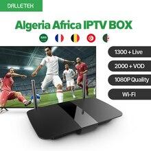 Argelia África árabe IPTV Caja Android 6.0 Smart TV Box 1 año QHDTV Suscripción IPTV 1300 Canales Europa Francés UNIDO IPTV Caja