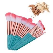 Hot Sale 12PCS Green/Pink Professional Makeup Brushes Popular Fantasy Foundation Powder Blush Eyeshadow Brushes Makeup Brush Set