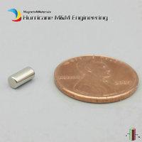 500 Pcs NdFeB Thin Magnet Rod Dia 3x6 Mm Diametrically Precision Magnet Neodymium Magnets Sensor Rare