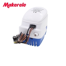 Free shipping DC12V/24V Automatic bilge pump 750GPH auto submersible boat water pump,electric for boats accessories marin
