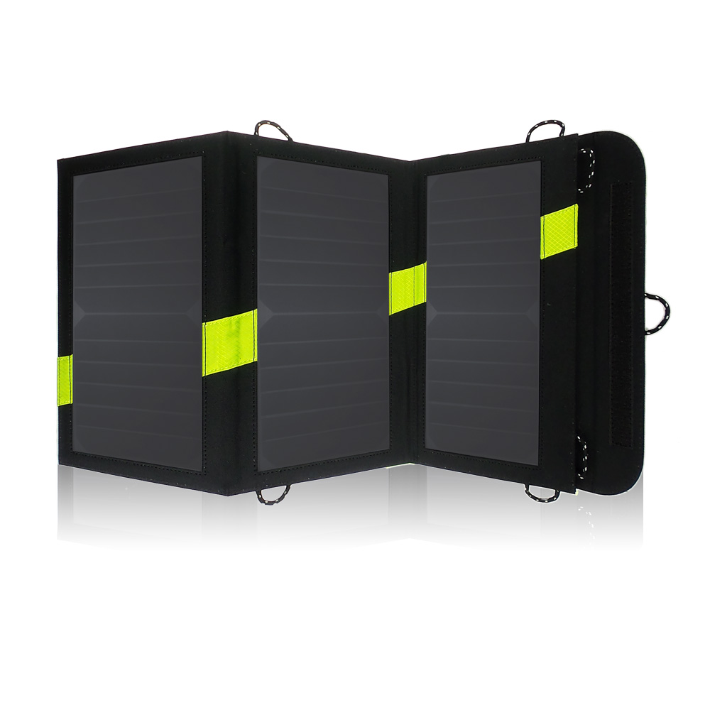 20W Dual USB Output 5V Solar Power Bank Sunpower Solar Panel Charger Camping Charger for Mobile Phone